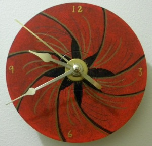 image of cd clock