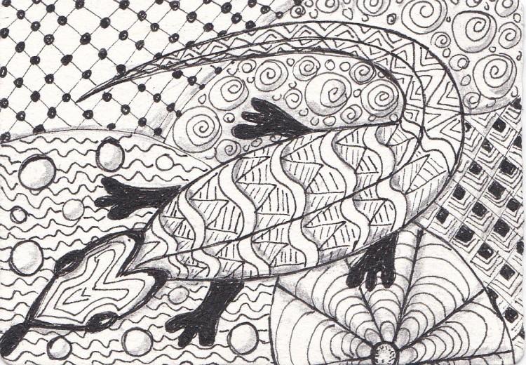 zentangle animals 1 of 3