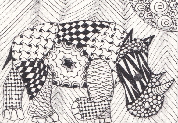zentangle animals 2 of 3