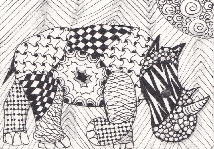 zentangle animals 2 of 3